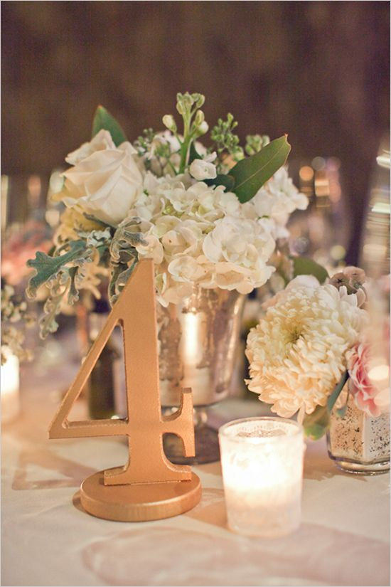 Burlap Centerpiece Table Number