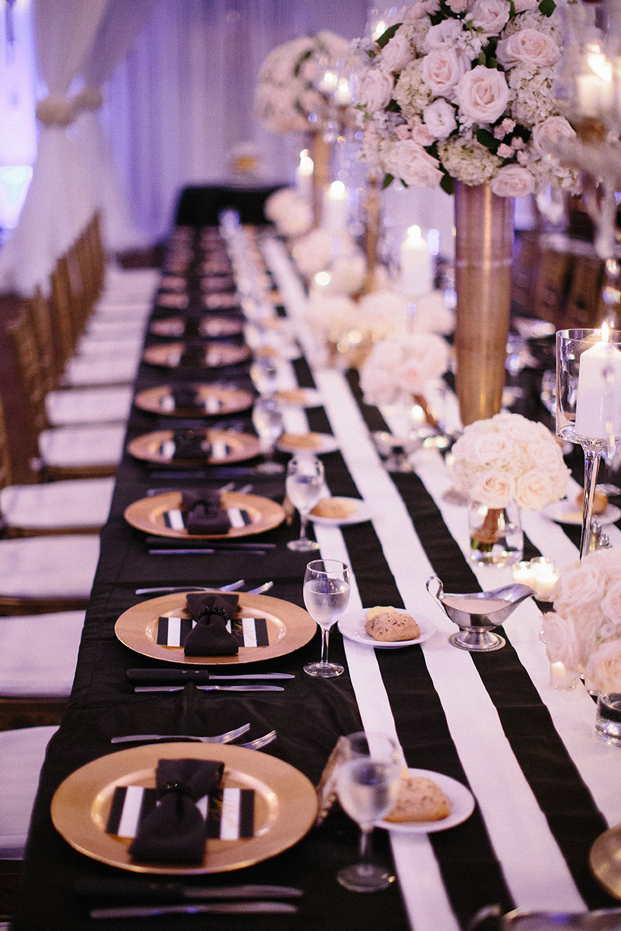 ice cream table and chairs desk chair leans back too far black gold houston wedding at the crystal ballroom - modwedding