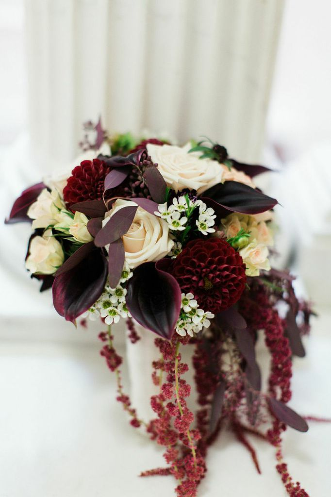 Cranberry and Gold New York Wedding at NYIT de Seversky Mansion  MODwedding