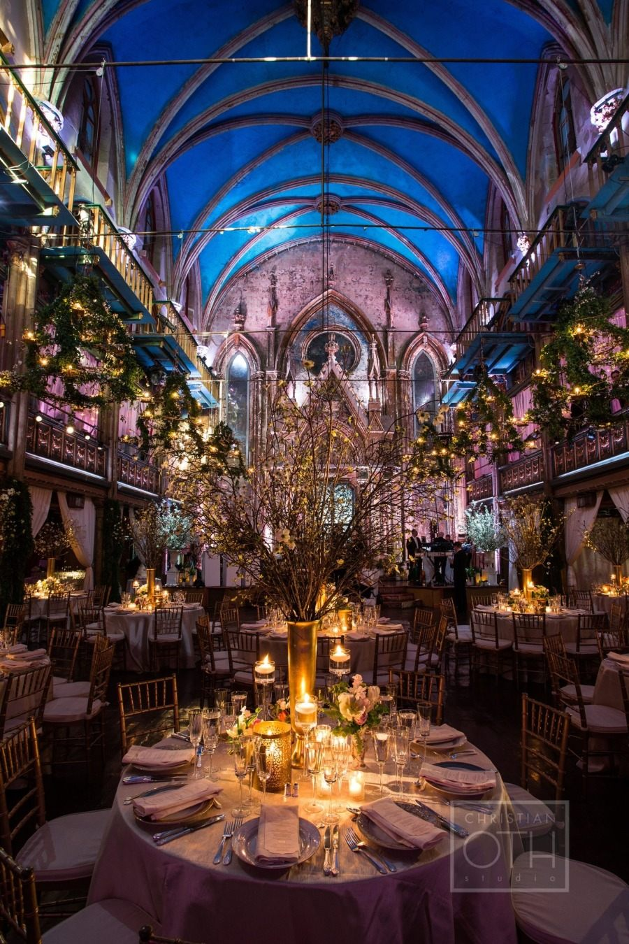 Elegant Ballroom Glamour Manhattan Wedding from Loli Events  MODwedding