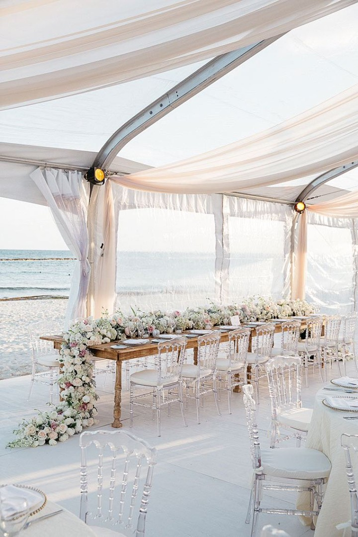 Glamorous Mexico Destination Wedding by the Beach