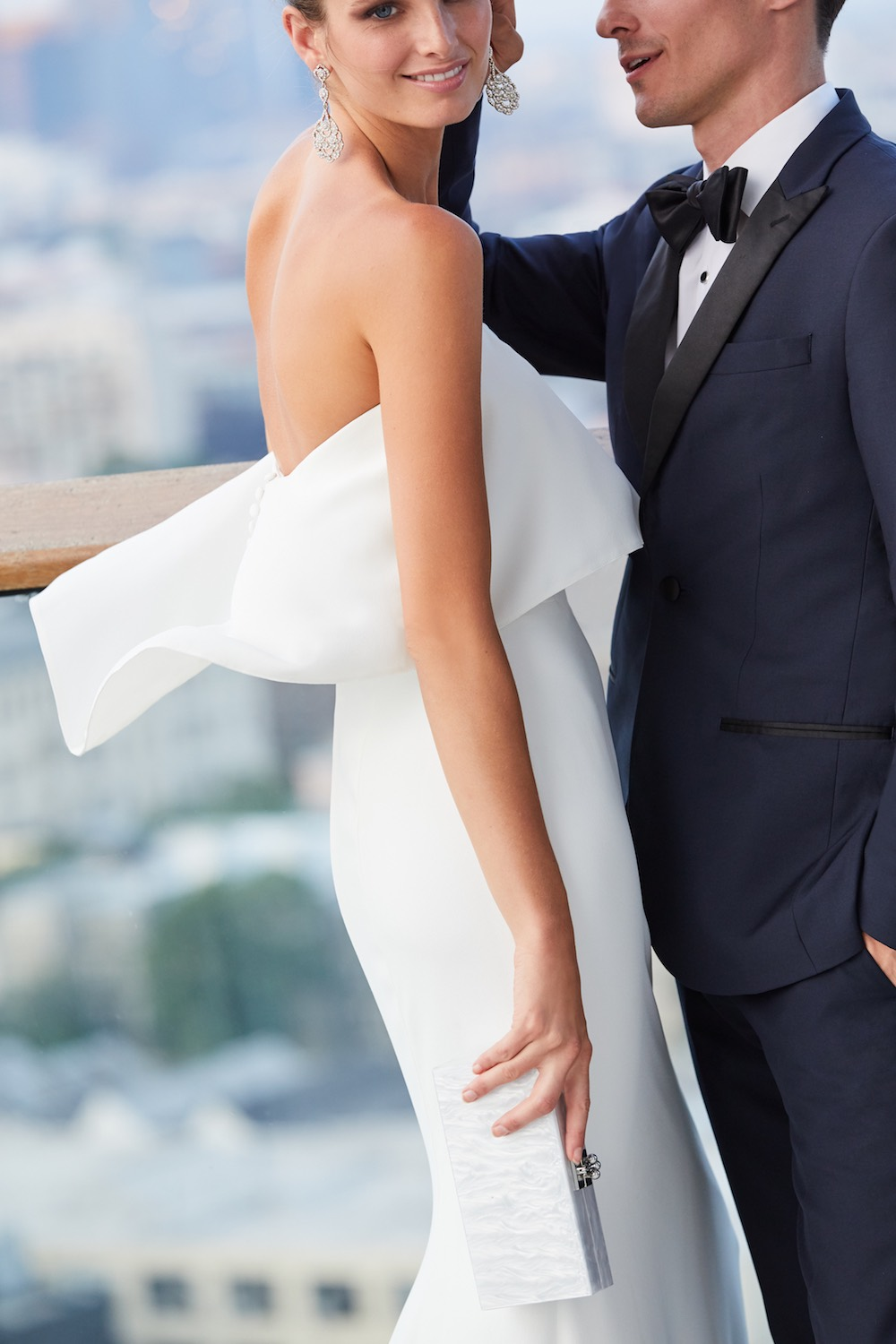 Classic City Wedding Looks: BHLDN Wedding Dresses and The Black Tux