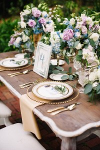 Dusty Blue and Lavender French Wedding Inspired Shoot ...