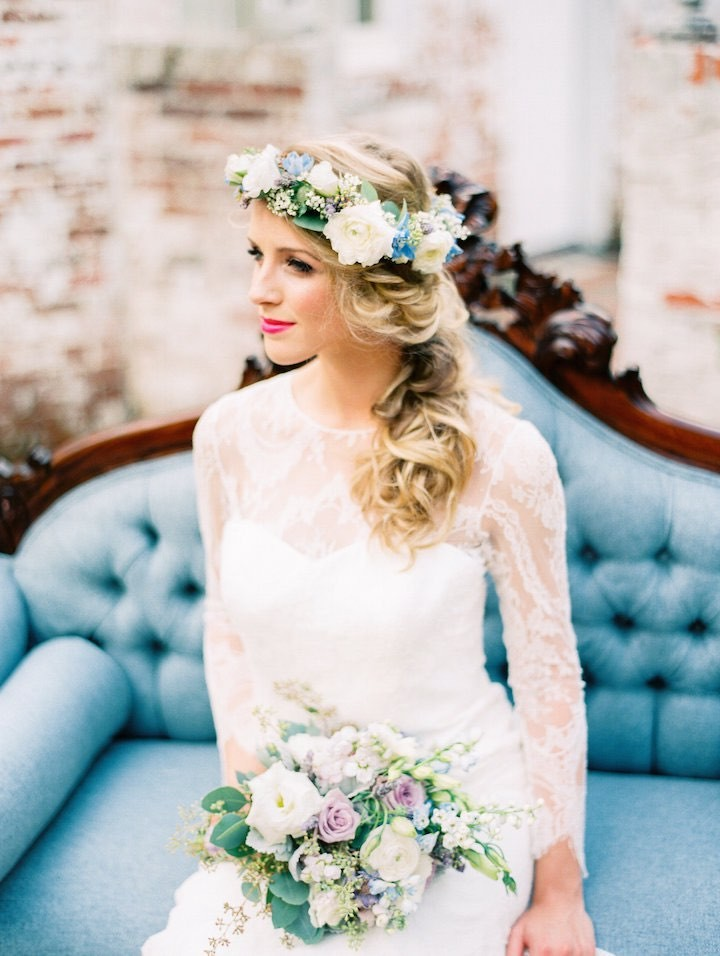 chair design inspiration club chairs cheap dusty blue and lavender french wedding inspired shoot - modwedding
