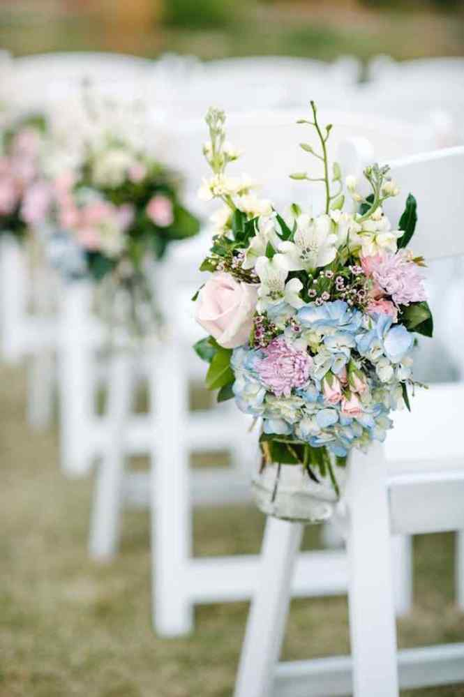Image Of Outdoor Wedding Ceremony Aisle Decorations