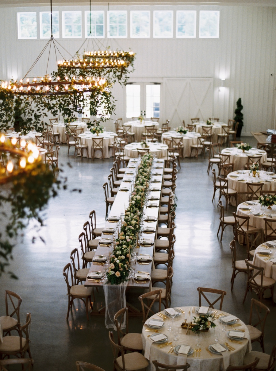 Romantic Blush Southern Wedding at The Farmhouse from