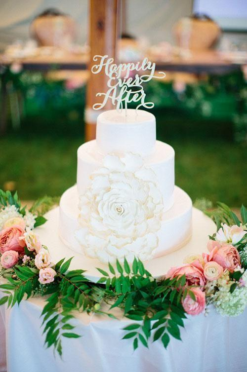 Elegant Wedding Cake Toppers With Script MODwedding