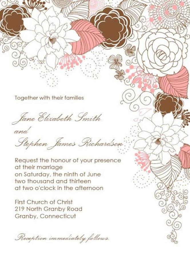 Wedding Invitation Border Design Ideas