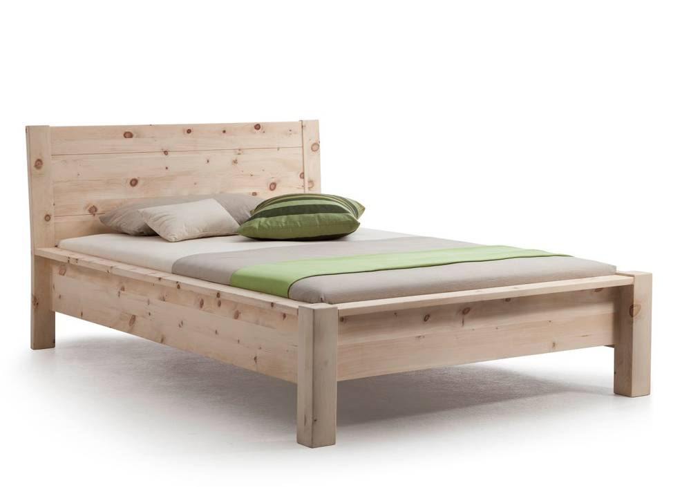 Schlafzimmer Betten Massivholzbetten Davos Einzelbett Doppelbett Massivholzbett Zirbe Roh L