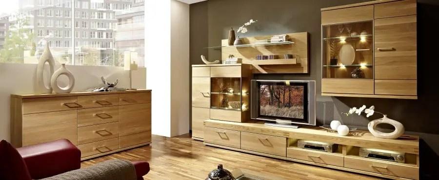 moderne wohnwand aus massivholz » terrassenholz,