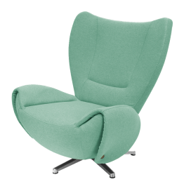 Designersessel Tom - Webstoff - Mint