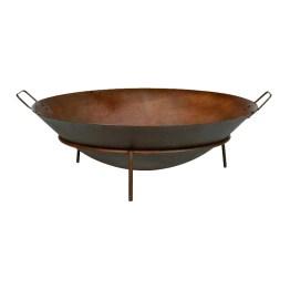 Feuerschale Rusty - mit Tragegriffen - Metall Rostbraun
