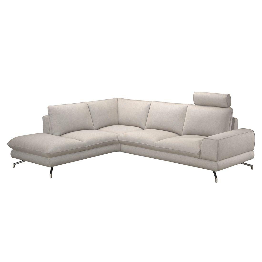 ecksofa lennard strukturstoff beige ottomane davorstehend links mit 1 kopfst tze. Black Bedroom Furniture Sets. Home Design Ideas