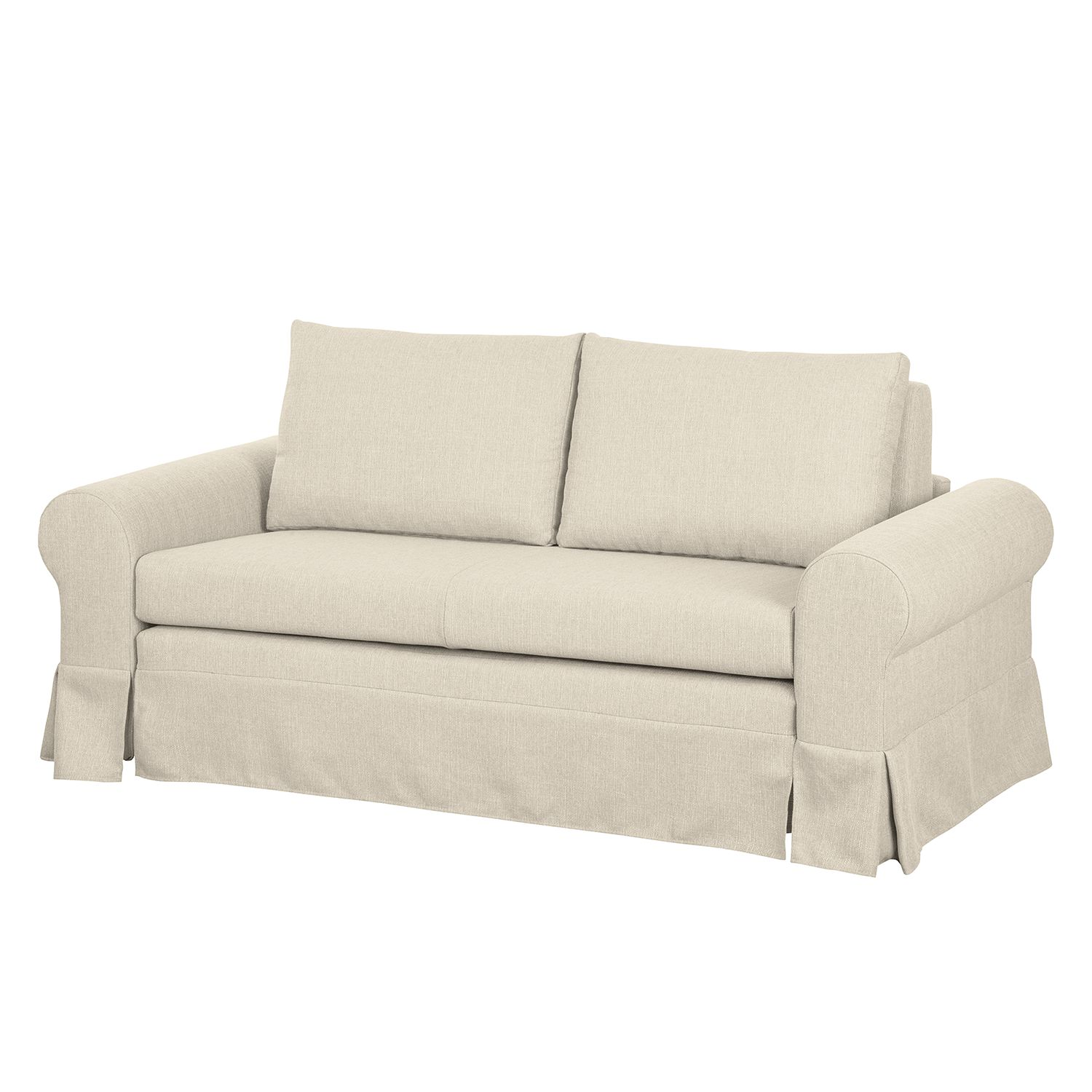 Schlafsofa latina xiii webstoff creme 205 cm mooved for Schlafsofa latina