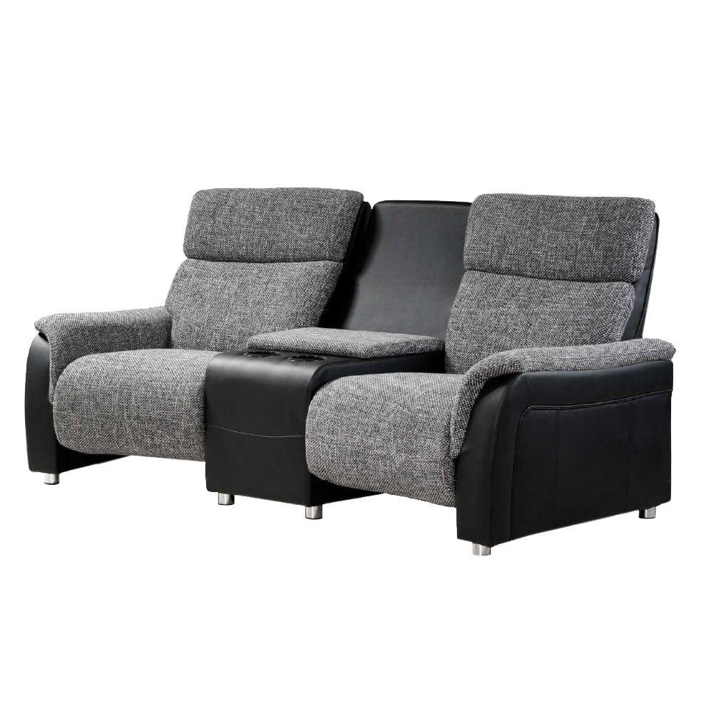 sofa kunstleder grau. Black Bedroom Furniture Sets. Home Design Ideas