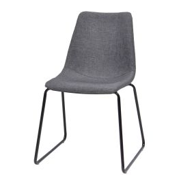 Stuhl Sofia - Stahl - Grau / Schwarz