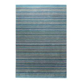 Teppich Samba Stripes - Petrol - Maße: 70 x 140 cm