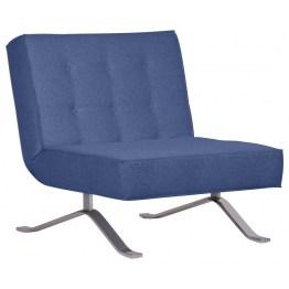 Ein Hingucker zum Ausklappen! Der Sessel Wave One in Blau verzaubert durch sein elegantes Design in Verbindung mit praktischer Funktionalität. Chronischer Platzmangel gehört von nun an der Vergangenheit an