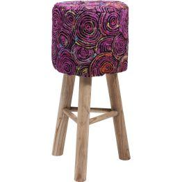 Barhocker: Gipsy Chic Lässiger Barhocker in gut gelaunten Farben und Mustern aus der Reihe Sunset. Perfekt als Ergänzung zum Bohemien-Style. Füße: Eucalyptusholz naturbelassen