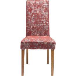 Stilvoller Polsterstuhl mit hoher Lehne und Bezug in strukturierter