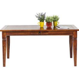 Tisch:Holzmöbel der Extraklasse Stattlich in seiner Optik und edel in der Anmutung - dieser imposante Tisch orientiert sich am klassischen Ideal eines Schreibtisches