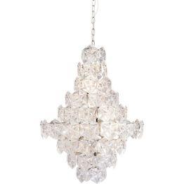 Hängeleuchte: Lichtspektakel Der auffällige Glas-Schirm funkelt im Licht. Die einzelnen Kristalle gleichen kleinen Schneeflocken in Sechseckform. Das Kabel mit der Länge von 80 cm ist verstellbar und passt sich Ihren Bedürfnissen an. In weiteren Ausführungen erhältlich. Die Lieferung erfolgt zerlegt.