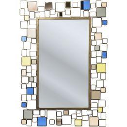 Spiegel: Stilvoller Durchblick Dieser Spiegel aus der Serie Brick Deluxe punktet mit Reminiszenzen an das angesagte Design der 50er-Jahre. Sein Rahmen ist ein Kunstwerk für sich. Macht in jedem Raum Eindruck. Wer sich in diesem Spiegel der Serie Brick Deluxe betrachtet