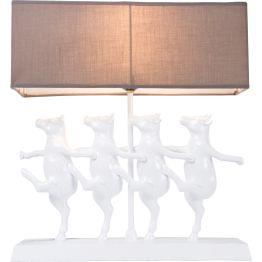Lampe: Formationstanz der weißen Kühe Hier fliegt die Kuh nicht