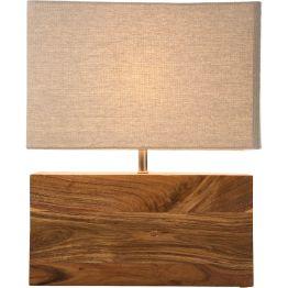 Lampe: Feine Tischleuchte mit natürlich-eleganter Ausstrahlung Diese Tischleuchte lebt vom tollen Kontrast zwischen Minimalismus und warmem Material. Elegante Natürlichkeit in Perfektion. Das wunderschön gemaserte Akazienholz des Sockels und der mit Baumwolle bezogene Schirm vermitteln Behaglichkeit. Das schlichte und klare Design von Rectangular greift auf die klassische Formensprache zurück. Der rechteckige Lampenschirm in natürlicher Farbe und aus Baumwolle sorgt für angenehm blendfreies