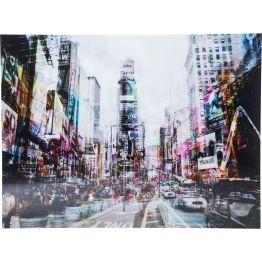 Bild: New York City Rhythm Fast glaubt man den Herzschlag Manhattans zu spüren. Mit diesem beeindruckenden Bild holt man sich ein Stück New York mit seinem einzigartigen Lebensgefühl in die eigenen vier Wände. Leben und Bewegung werden durch die optisch verzerrte Perspektive