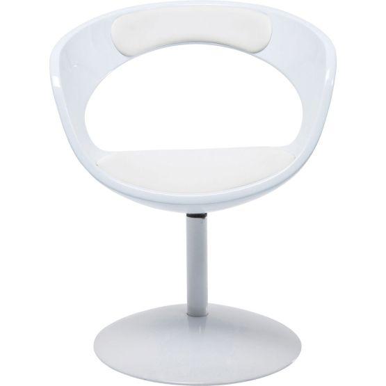 Stuhl: Stylischer Drehstuhl mit Retro Flair Dieser legendäre Drehstuhl steht nicht nur in den berühmtesten Nachtclubs - er ist Symbol der 70er Jahre und verführt mit seinem metallenen Trompetenfuß und weißer Sitzschale zu Retrostimmung in den eigenen Wänden. Die fein geformte Sitzschale sorgt nicht nur für sehr designige Akzente