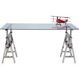 Architekten-Schreibtisch mit sehr eleganter Note Dieser Schreibtisch ist ein kleines Kunstwerk. Nicht nur