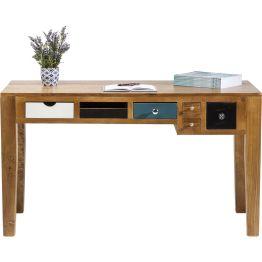 Schreibtisch:Geschmackvoller Schreibtisch aus Pappelholz Modern Vintage