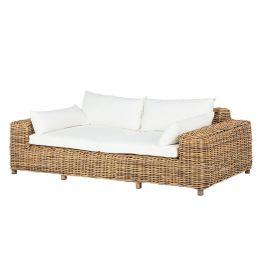 Loungesofa Calla Millor (2-Sitzer) - Polyrattan - Braun/Beige