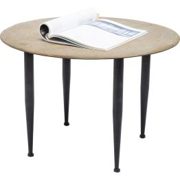Beistelltisch: Dieser charmante Beistelltisch besticht mit originellem Vintage-Flair. Die aufwendig gestaltete und hochdekorative Tischplatte macht den besonderen Reiz dieses Tisches aus.