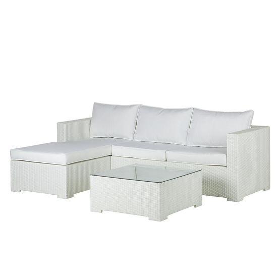 Lounge Sitzgruppe Paradise Lounge (3-teilig) - Polyrattan / Textil - Weiß