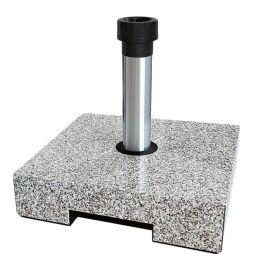 Schirmständer Parrin I - Kunststoff / Aluminium - Granit Hell