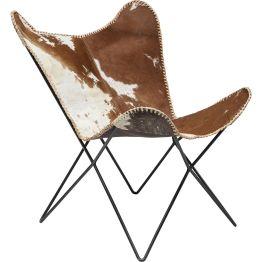 Sessel: Klassiker in Kuhfell Ein Klassiker erwacht zu neuem Leben. Redesigned. Der Sessel Butterfly fur ist die innovative Auferstehung eines Klassikers. Reicher geworden um die erlesene Fellbespannung