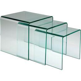 Dreisatztisch im klassischen Würfeldesign Ein echter Designklassiker. Dreisatz Beistelltisch