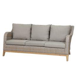 Gartensofa Almada (3-Sitzer) - Polyrattan - Beige