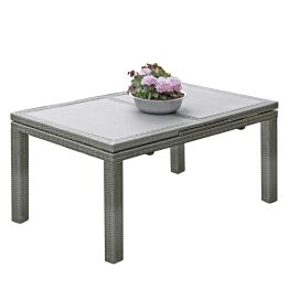 Gartentisch Santander - Polyrattan - Grau