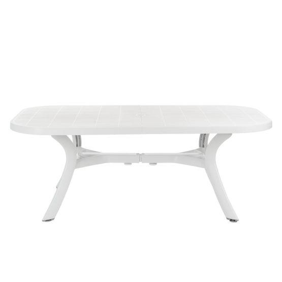 Gartentisch Kansas - Kunststoff - Weiß