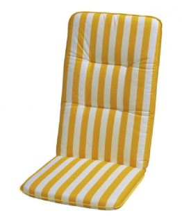 Auflage Basic Line - Gelb-Weiß gestreift - Hochlehner - 120 x 50 cm