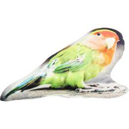 Kissen: Ein Vöglein hat mir gezwitschert ... Das Zierkissen mit dem Aufdruck eines Papageien beweist