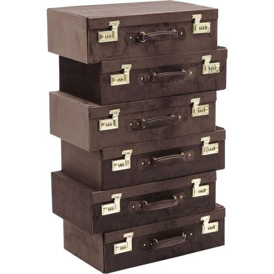 Kommode: Witziges Kofferschränkchen Originelles Möbeldesign trifft auf praktischen Nutzen: Die kleine Kommode Suitcase Braun hilft