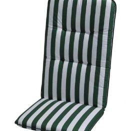 Auflage Basic Line - Grün-Weiß gestreift - Niederlehner - 100 x 50 cm