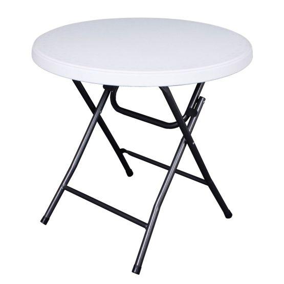 Gartentisch Mufaro III - Stahl / Kunststoff - Weiß