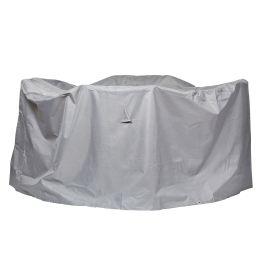 Schutzhülle Premium für runde Sitzgruppe - Lichtgrau