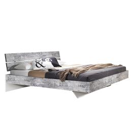 Bett Sumatra - 160 x 200cm - Vintage Grau / Weiß