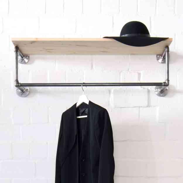 Wasserrohr Möbel - Kleiderstange